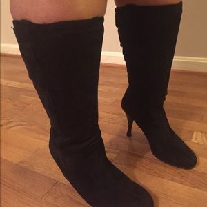 Faux Suede WideCalf Boots